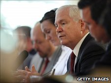 US Defense Secretary Robert Gates in London, 9 June 2010