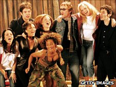 The Spice Girls with Ian McCulloch, Simon Fowler and Tommy Scott