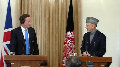Prime Minister David Cameron and President Hamid Karzai