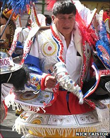 A male dancer in the parade