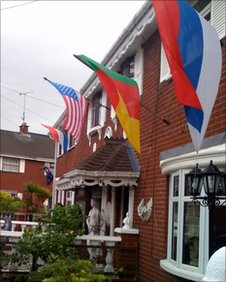 World Cup flags on Iris Mews