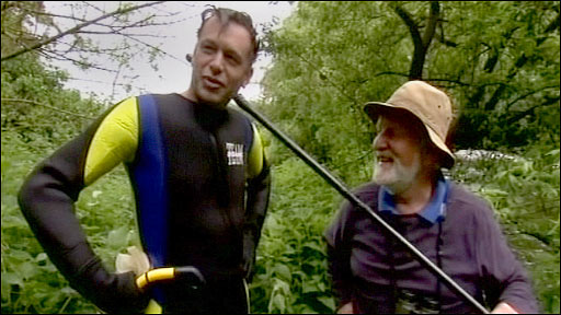 Chris Packham (left) and Hugh Miles