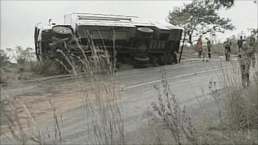 Bus crash in South Africa