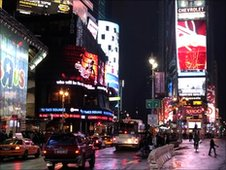 Billboards in Times Square, New York City
