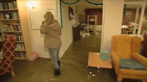 Flooded nursing home