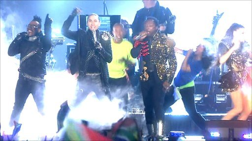 Black Eyed Peas perform at the World Cup concert