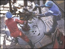 workers on a oil rig