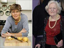 Prue Leith and Marguerite Patten