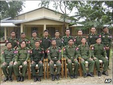 The defector, Sai Thein Win, is second from the left in this DVB ...