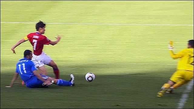 Park Ji Sung scores second for South Korea