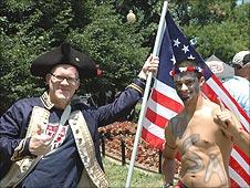 Man dressed as George Washington
