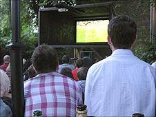 Big screen in the pub