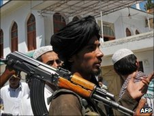 Taliban member in Pakistan&#039;s Buner region. File photo
