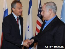 Tony Blair and Benjamin Netanyahu