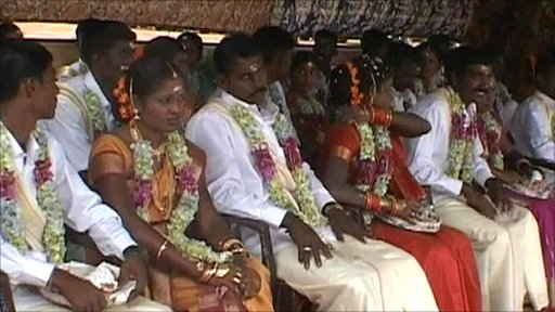 Mass former Tamil tiger wedding