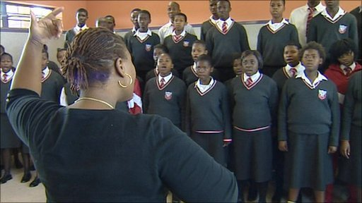 Pauline Malefane at Manyano High School