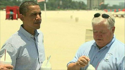 Obama visiting the gulf coast