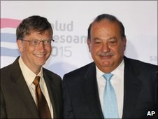 Bill Gates (left) and Carlos Slim