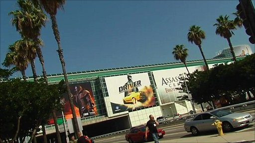 Exterior of E3 gaming conference