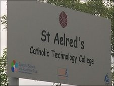 St Aelred's sign