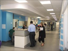 Staff get ready for the new Queen Elizabeth Hospital to open