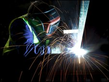 Welder working on the new vessel