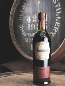 The bottle of Glenfiddich