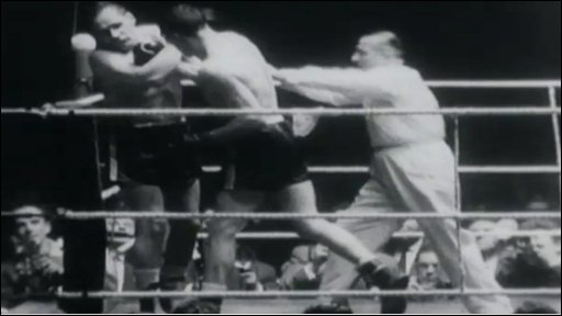 Newport's Dick Richardson wins the European heavyweight title from Germany's Hans Kaldfell in controversial circumstances in Dortmund