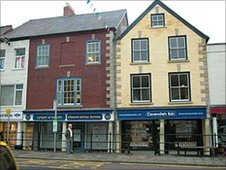 Historic frontages on Denbigh High Street