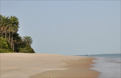 Previously uninhabited island Rubane in the Bijagos archipelago, Guinea-Bissau