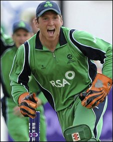 Irish wicketkeeper Gary Wilson