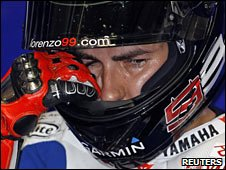 World championship leader Jorge Lorenzo