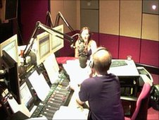 Jonathan Miles in BBC Newcastle studio