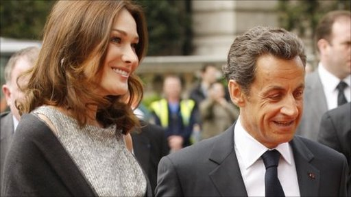 Carla Bruni and President Sarkozy