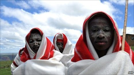 South African boys at initiation school (file photo)