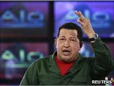 President Hugo Chavez on 6 June 2010