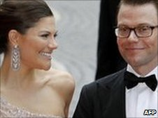 Crown Princess Victoria (L) and Daniel Westling at a gala performance at the Stockholm Concert Hall in Stockholm on 18 June 2010