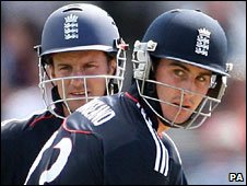 England openers Craig Kieswetter (right) and Andrew Strauss