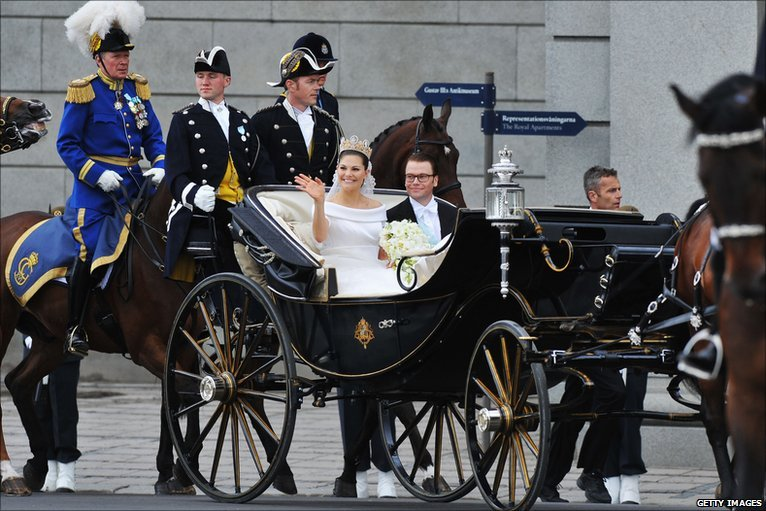 bbc news in pictures swedens royal wedding