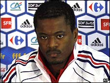 France captain Patrice Evra
