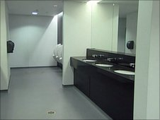 Players' toilets inside Wembley Stadium