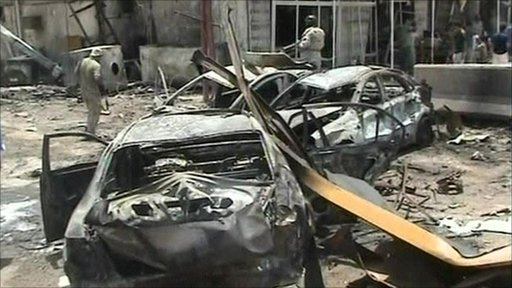 Aftermath of Baghdad bomings