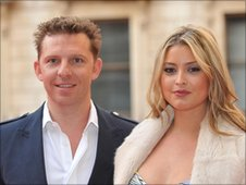 Nick Candy and his girlfriend, Holly Valance