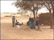 A family in a drought-hit village near Tanout in southern Niger