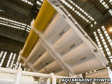 Oyster wave power machine