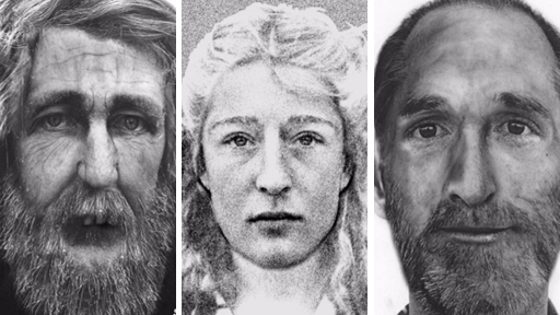 Three of the unidentified 'cold case' people
