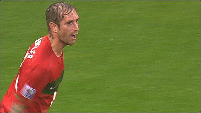 Portugal's Raul Meireles celebrates scoring