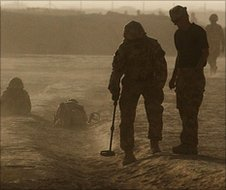 British troops search for makeshift bombs in Helmand