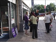Librarians on strike in Southampton