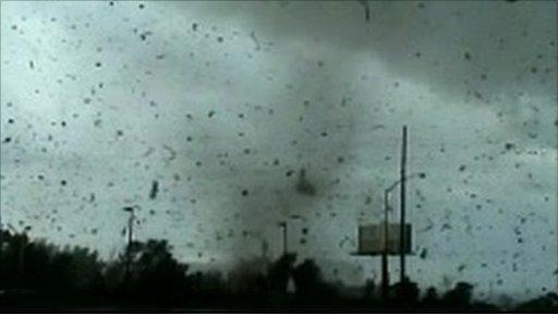 Tornado causing damage